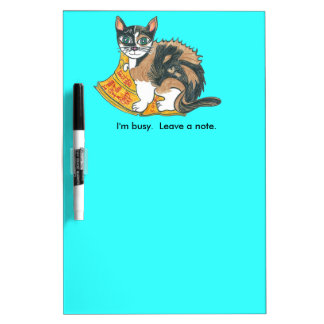 Calico Cat on the prowl Dry Erase Board
