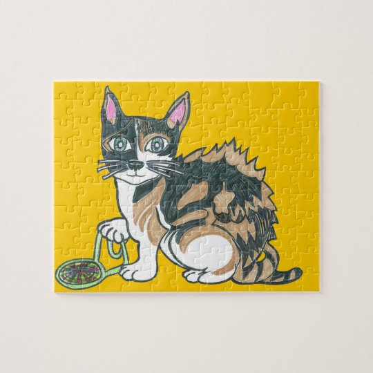 Calico Cat on the prowl Jigsaw Puzzle