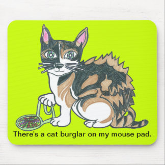 Calico Cat on the prowl Mouse Pad