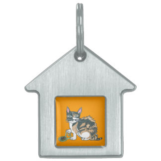 Calico Cat on the prowl Pet Tag