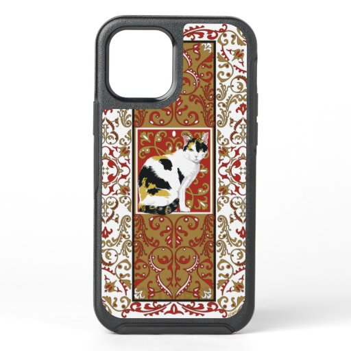 Calico Cat Ornate OtterBox Symmetry iPhone 12 Case