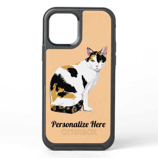Calico Cat Personalized OtterBox Symmetry iPhone 12 Case