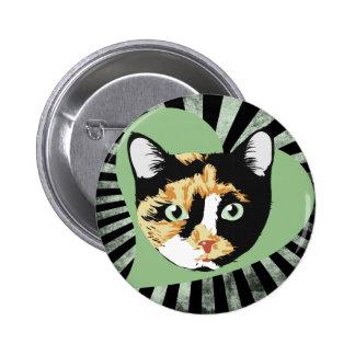 Calico Cat Pinback Button