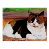 Calico Cat Postcard