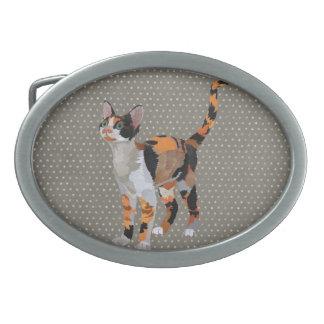 CALICO CAT Retro Belt Buckle