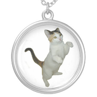 Calico Cat Situp Necklace