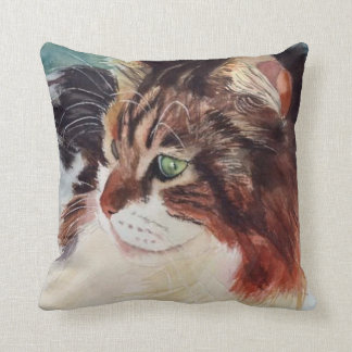 Calico Cat Square Throw Pillow (RParker7)