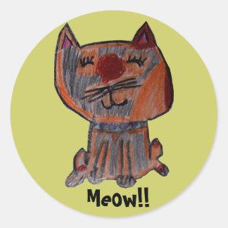 Calico Cat Sticker
