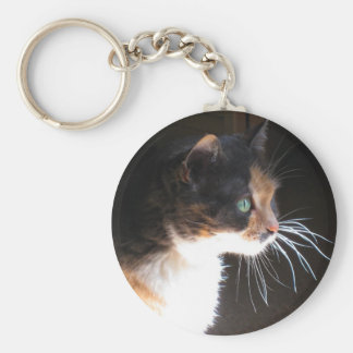 Calico Cat Whiskers Keychain