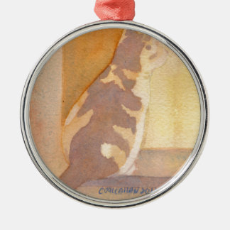 Calico Cat Window sitter Christmas Ornament