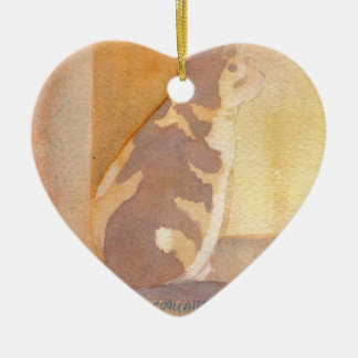 Calico Cat Window sitter Christmas Tree Ornaments
