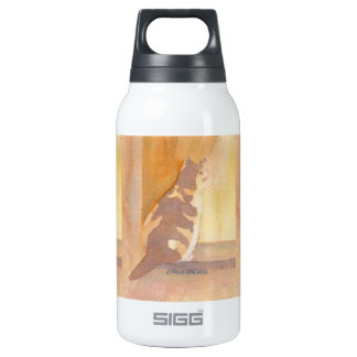 Calico Cat Window sitter Thermos Bottle