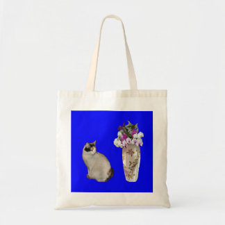 Calico Cat With Orchid Bouquet Tote Bag