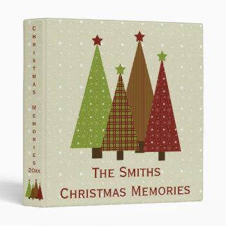 "Calico Christmas Trees 1"" Photo Binder"