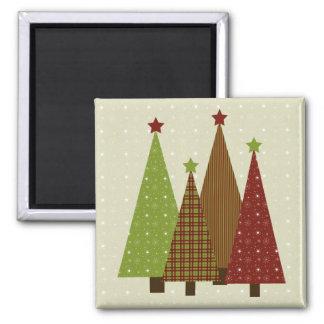 Calico Christmas Trees Magnet