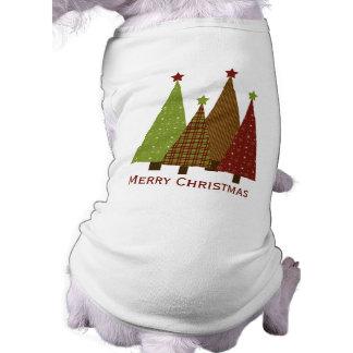 Calico Christmas Trees Pet Clothing