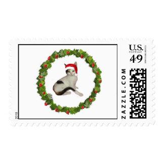 Calico Christmas Wreath Stamps