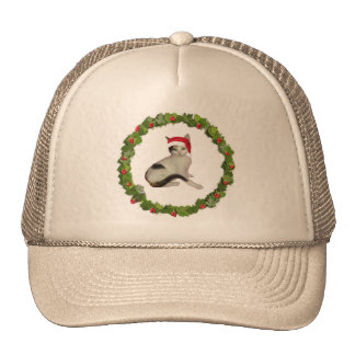 Calico Christmas Wreath Trucker Hat