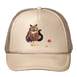 Calico Colors - kitty has two toys Mesh Hats