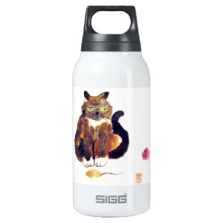 Calico Colors - kitty has two toys Thermos Water Bottle