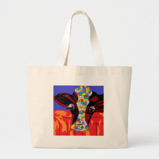 Calico COW Large Tote Bag