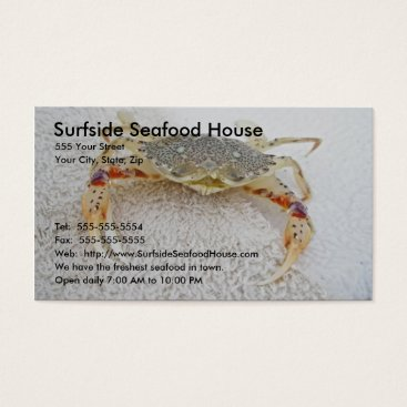 Professional Business Calico Crab Business Card