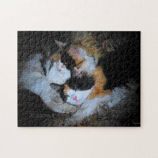 Calico cuddle up jigsaw puzzle