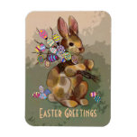 calico easter bunny flexible magnet