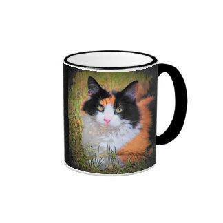 Calico Eyes Ringer Mug