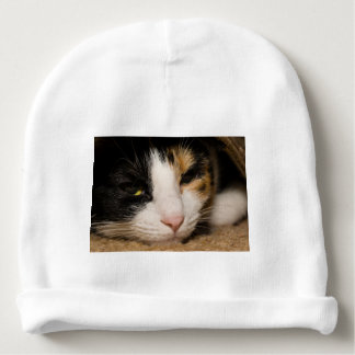 Calico Face Baby Beanie
