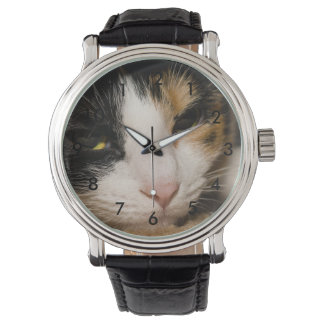 Calico Face Wrist Watch