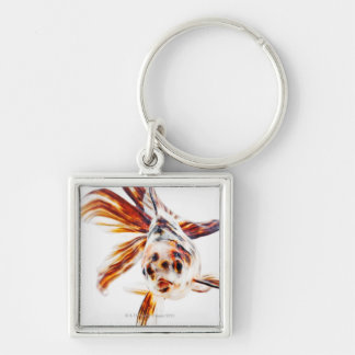 Calico Fantail Comet goldfish (Carassius Keychain