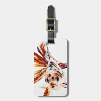 Calico Fantail Comet goldfish (Carassius Luggage Tag