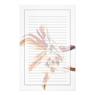 Calico Fantail Comet goldfish (Carassius Stationery