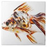 Calico Fantail Comet goldfish Ceramic Tile