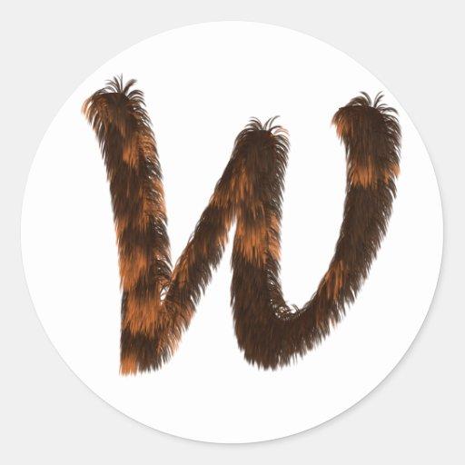 Calico Fur Monogram Stickers