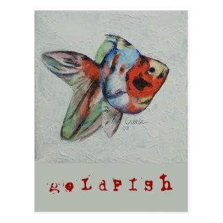 Calico Goldfish Postcard