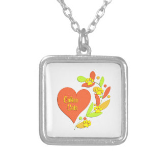 Calico Heart Personalized Necklace