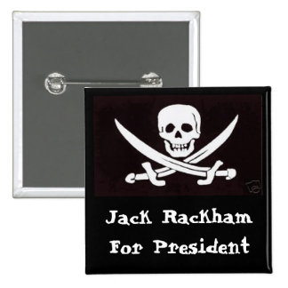 ¡Calicó Jack para Prez! Pin Cuadrada 5 Cm