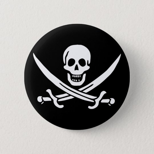 Calico Jack Pinback Button