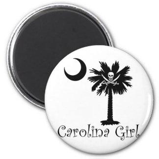 Calico Jack Pirate Carolina Girl Fridge Magnets