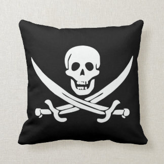 Calico Jack Pirate Flag Skull and Cutlasses Throw Pillows