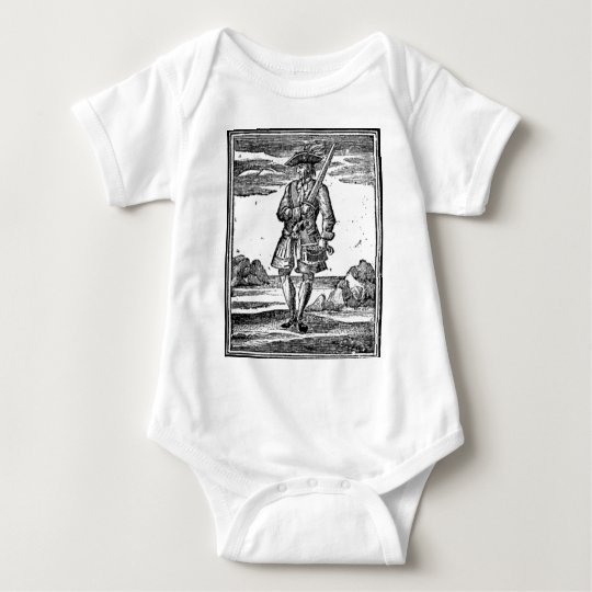 Calico Jack Portrait Baby Bodysuit