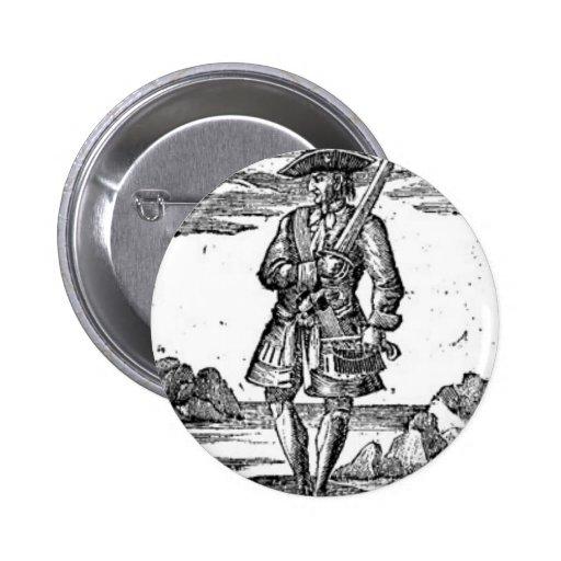 Calico Jack Portrait Pin