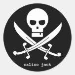 calico jack round sticker