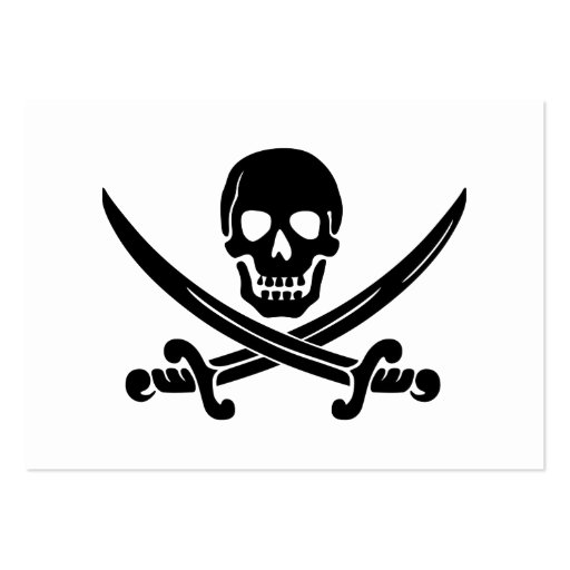 Calico Jack Skull and Crossbones Large Business Cards (Pack Of 100)