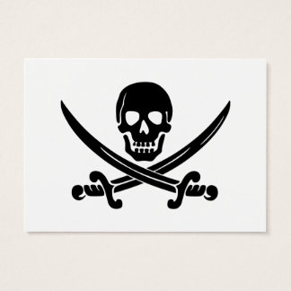 Calico Jack Skull and Crossbones Business Card