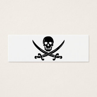 Calico Jack Skull and Crossbones Mini Business Card