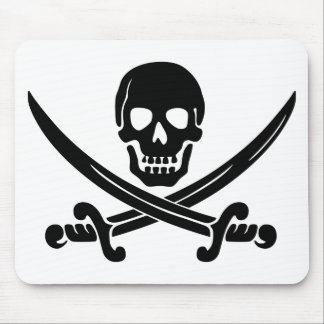 Calico Jack Skull and Crossbones Mouse Pad