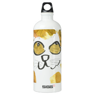 Calico Kitten and Dragonfly Water Bottle